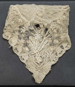 Handkerchief, ca. 1800–1850; beading, 1977. Courtesy of Mrs. Elizabeth C. Lewis