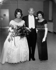Ralph and June Campbell celebrate the debut of their daughter, Mildred, at the Alpha Kappa Alpha Ball in Raleigh in 1964. Courtesy of Mr. Ralph Campbell Jr.