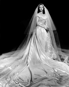 Carolyn Dorcas Maynor wore this dress for her marriage to Ray Bucher Jr. on March 20, 1948. Courtesy of Mrs. Dorcas M. Bucher
