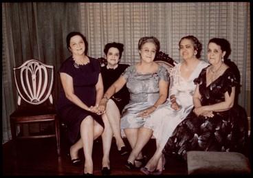 Left to right: Chloe Otey Jervay Laws, Mildred Otey Taylor, Willie Otey Kay, Josephine Otey Hayes, and Elizabeth Otey Constant. Courtesy of Mrs. Bessie Taylor