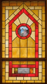 After Willie Otey Kay's death, her children dedicated this stained-glass window to her memory. Courtesy of the North Carolina Museum of History