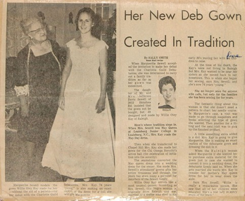 Newspaper article by Sally Smith. Courtesy of Ralph Campbell Jr.